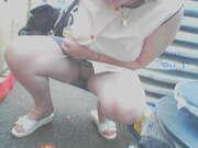 Photos du minou de Sandrinette, Mon minou sous mes blouses de nylon